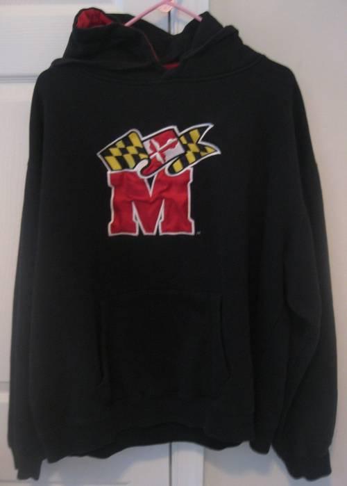 Maryland Terps Terrapins Hoodie Sweatshirt XL Black | RonSusser.com