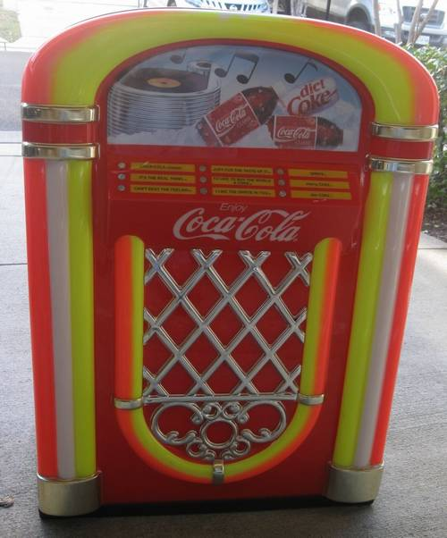 Coca-Cola Licenced Vintage Juke Box Beverage Cooler Circa