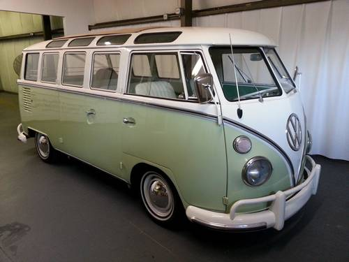 1963 volkswagen vw 23 window samba sunroof bus for 1963 vw bus 23 window