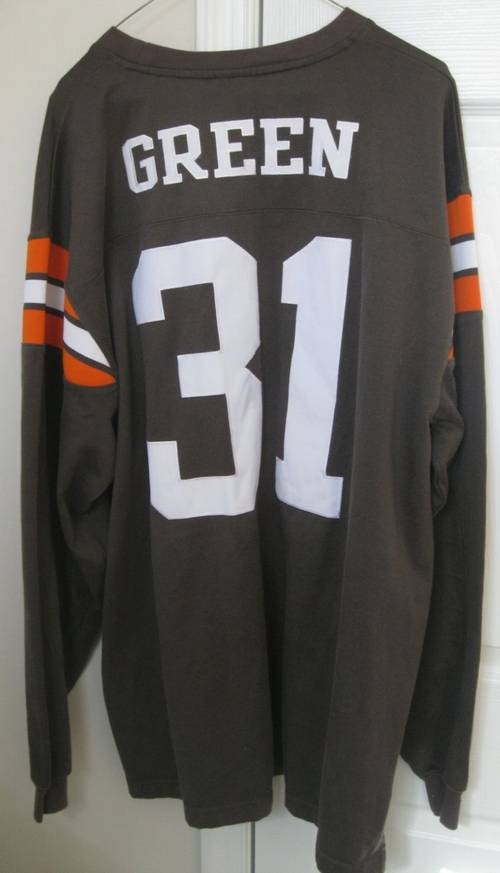 best service 3bee9 98b09 Reebok Gridiron Classics Cleveland Browns Willie Green #31 ...