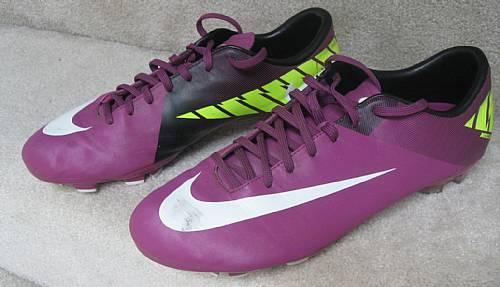 cheaper a9dcc 30a58 Nike Mercurial Mens Victory II FG Soccer Cleats Red PlumVolt