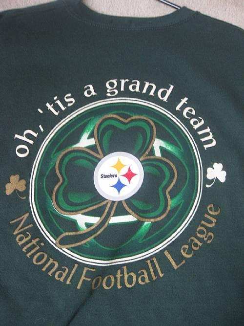 on sale 7bc69 9d196 NFL Pittsburgh Steelers Irish Sweatshirt XL Shamrock ...
