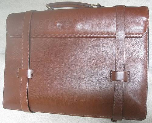 Brooks Brothers Soft Sided Brown Leather Briefcase Super
