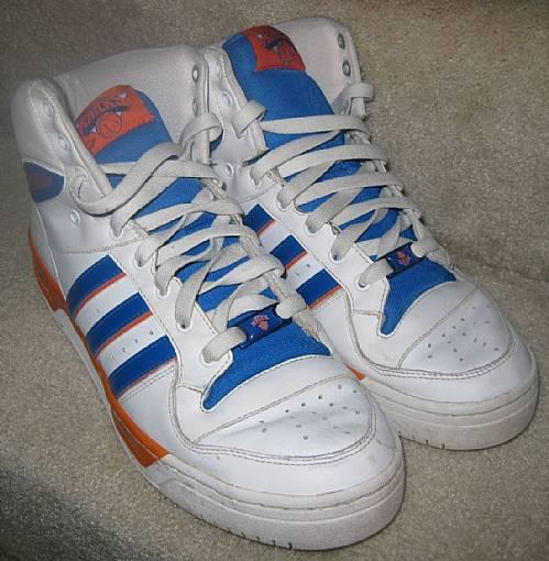 Adidas Attitude Hi Top NBA New York Knicks Basketball Shoes Sneakers ... f109eaee7