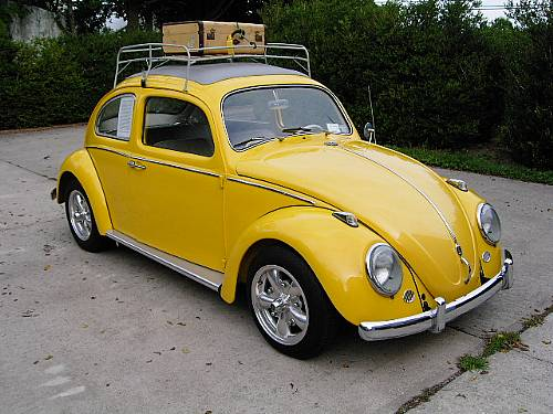 1962 VW Beetle Bug Yellow Beauty Sunroof Resto Mod