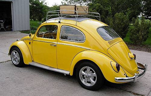1962 vw beetle bug yellow beauty sunroof resto mod. Black Bedroom Furniture Sets. Home Design Ideas