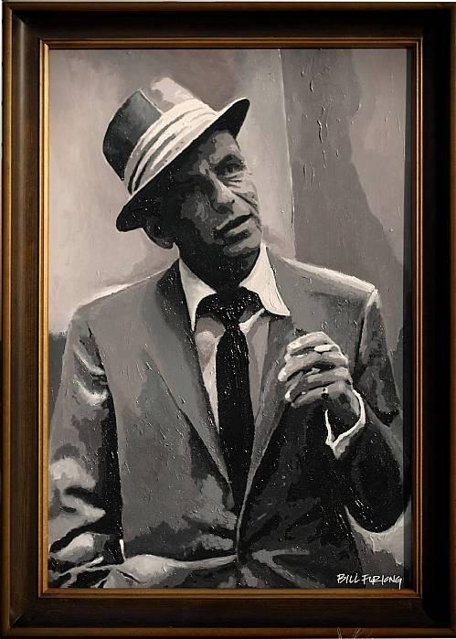Original Framed Artwork Frank Sinatra by Bill Furlong Acrylic on ...