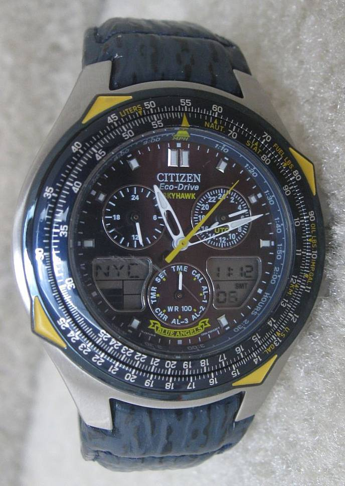 Citizen Eco Drive Skyhawk Blue Angels Watch C650 T000959