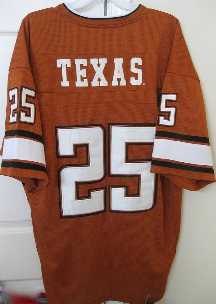 brand new e3fe4 4dd8e NCAA Texas Longhorns #25 Football Jersey by Colosseum XL ...