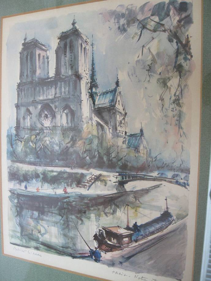 Pre Owned Factory >> Marius Girard Signed Watercolor Notre Dame Paris France ...