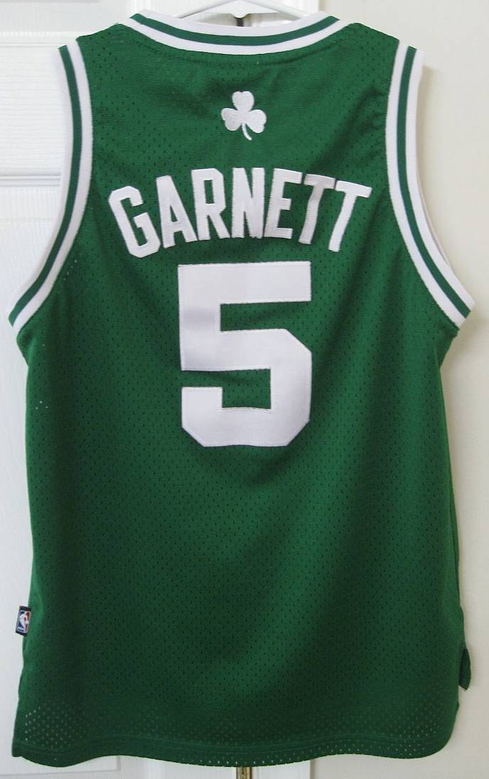 the latest b512d dd22e Details about NBA Boston Celtics Kevin Garnett #5 Youth Replica Jersey  Medium (10-12) Adidas