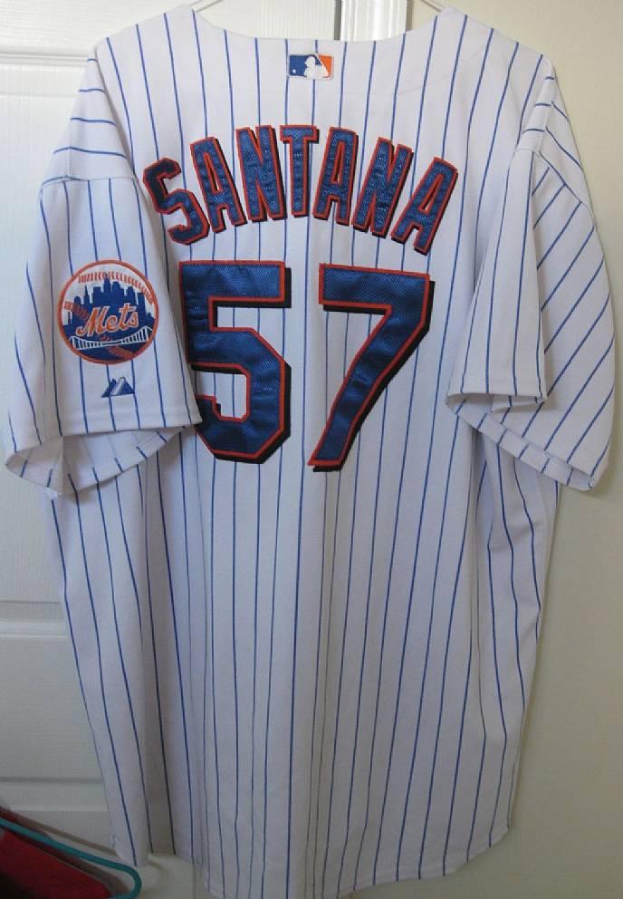 factory authentic 0e593 897e1 MLB New York Mets Johan Santana #57 Replica Jersey by ...