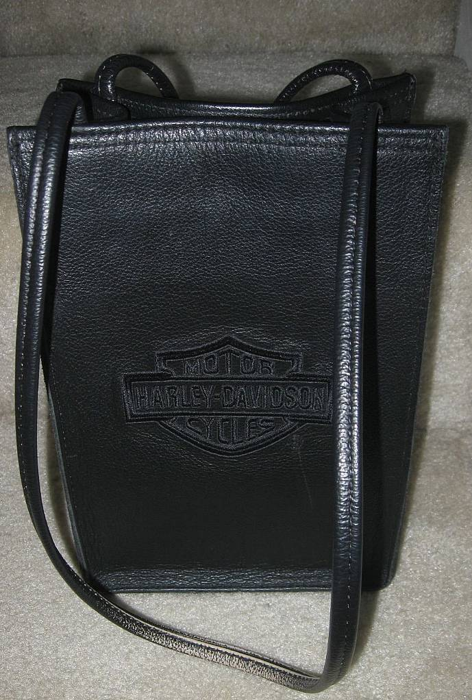 Harley Davidson Black Leather Purse Handbag