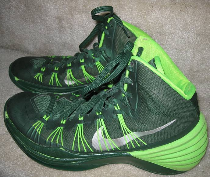 outlet store 76017 b9b46 2013 NIke Mens Hyperdunk TB Shoes size 8.5 Green 584433 300 Great Shape