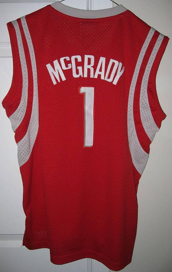 240512651 NBA Houston Rockets Tracy McGrady  1 Jersey Large (14-16) by Reebok Length  +2