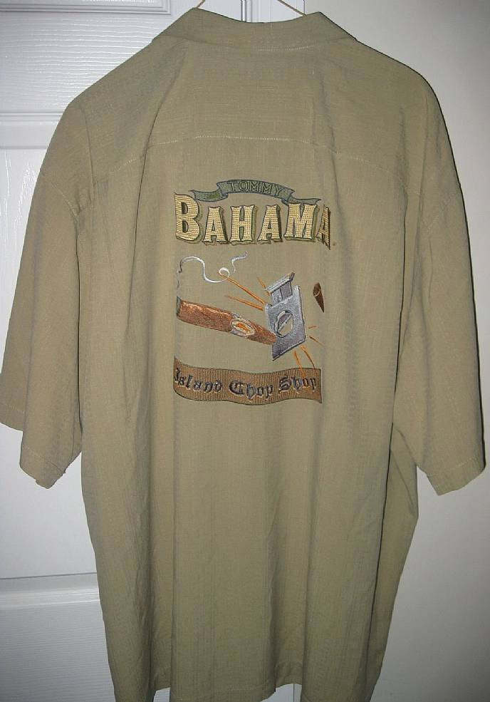 Tommy bahama silk camp shirt embroidered island chop shop for Tommy bahama embroidered silk camp shirt