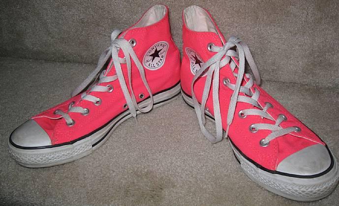 a6148f83dd5d Converse All Stars Chuck Taylor Hi Tops Neon Pink Size 6 Men or 8 ...