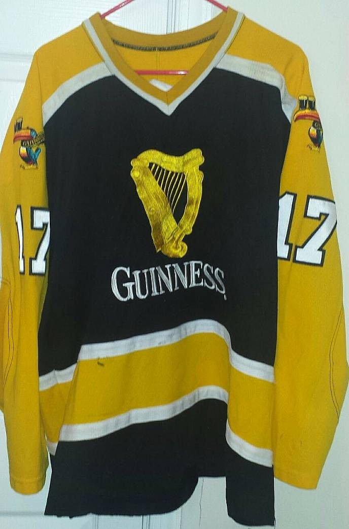 c9059821a Guinness Hockey Jersey #17 XL Team Used Great for St. Pats Day Game ...