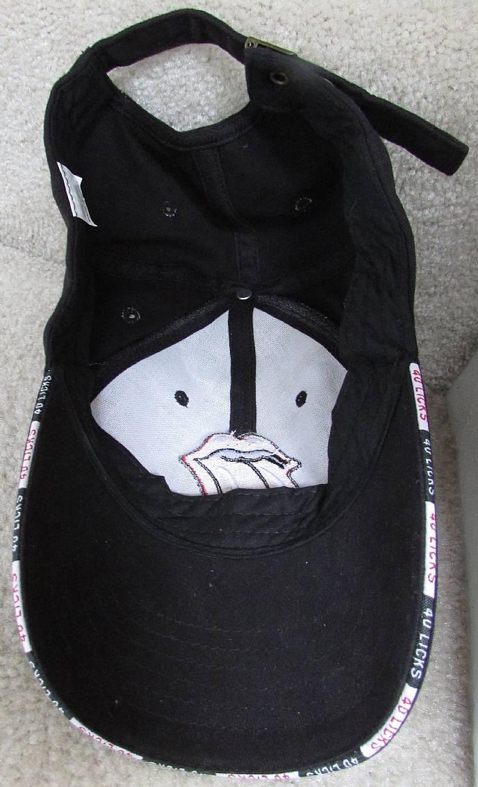 59873f24e6a THE ROLLING STONES Baseball Hat Cap Black 40 Licks – RonSusser.com