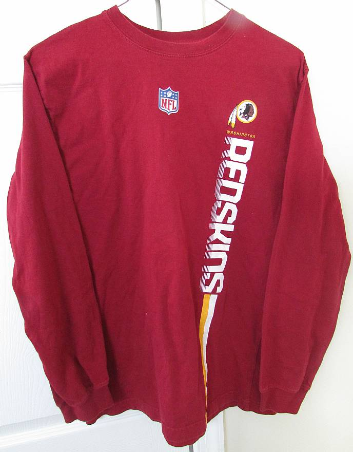 new styles 28ba3 63faa Details about NFL Washington Redskins Long Sleeve Shirt Youth Large (14-16)  Great Design