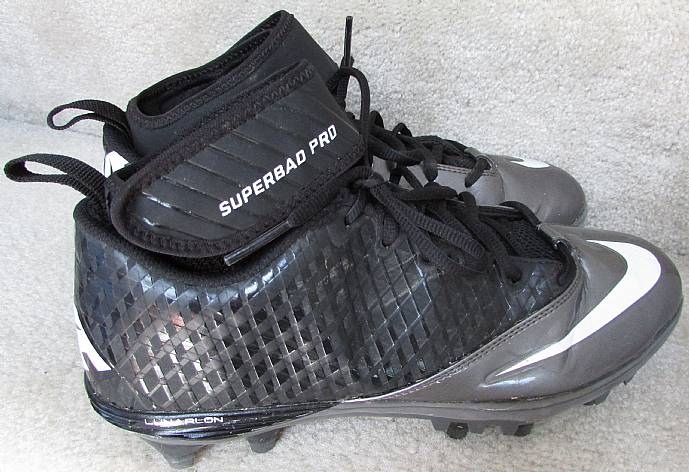 eae86d3f4a8b Nike Men's Lunar Superbad Pro TD Football Cleats Black Silver 511334 ...