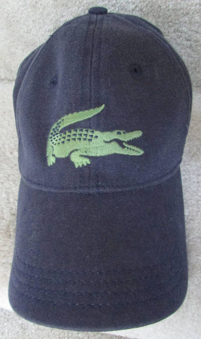 Lacoste Baseball Hat Cap With Green Alligator Logo One