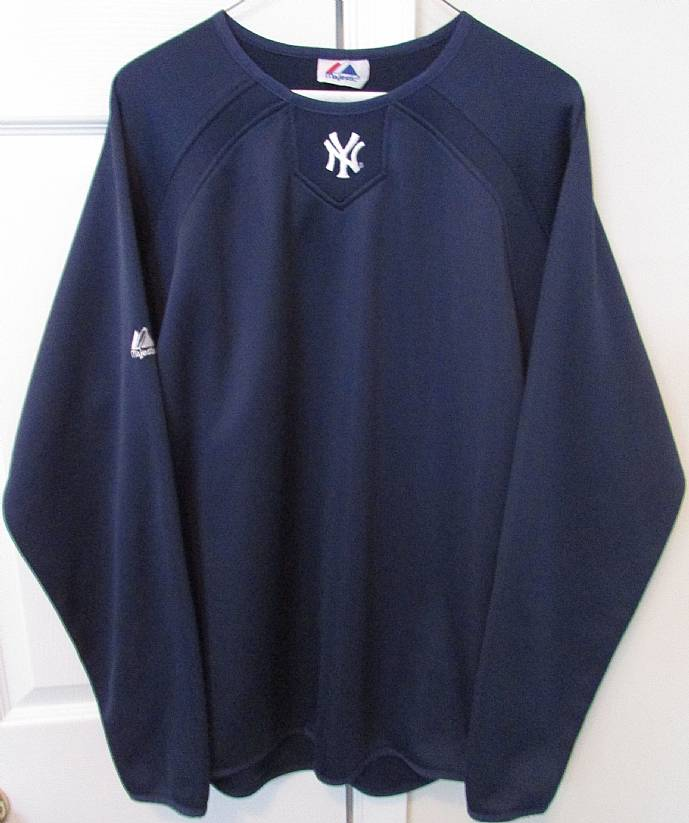 MLB New York Yankees Long Sleeve Thermal Base Practice Pullover ... 5b525f9d94cb