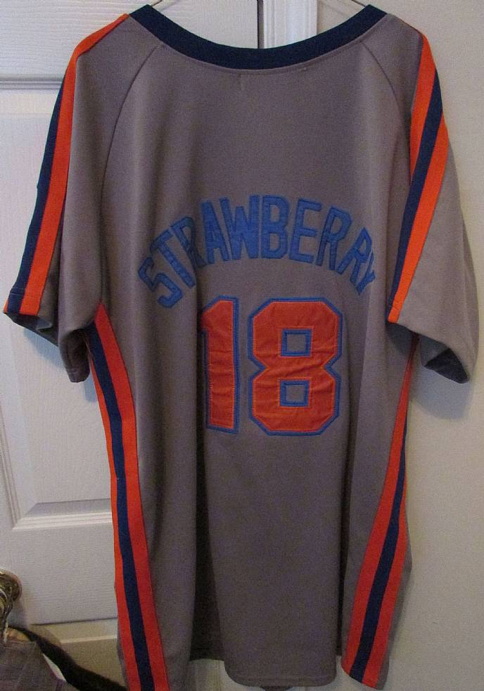 low priced b2a86 5e755 Details about MLB New York Mets Mitchell Ness Darryl Strawberry Jersey 1987  Sz 54 EUC