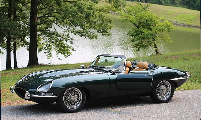 1967 Jaguar E Type Roadster Green Metallic Fully Restored Gorgeous Series 1