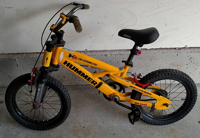 Hummer H16 Kids Special Edition 16 Inch Bike Yellow Front