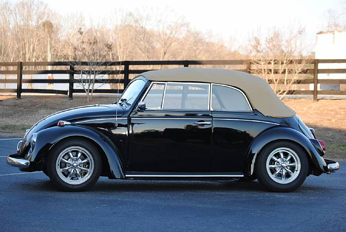 1969 Vw Volkswagon Bug Beetle Convertible Cabriolet Black