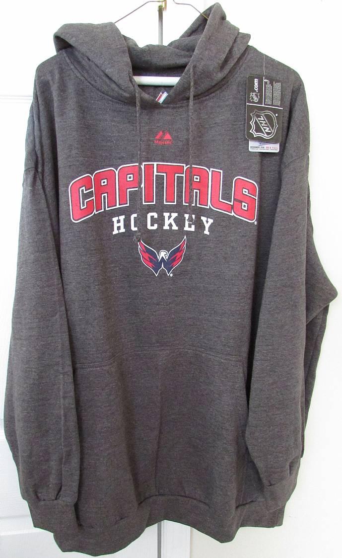 aa47897ec NHL Washington Capitals Hockey Hoodie Sweatshirt 3XL Gray New with ...