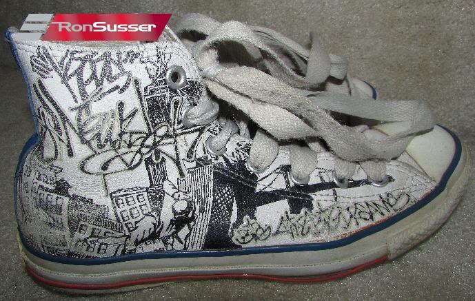 0aa6cc7929cd Converse Unisex 1X508 All Star High Top Graffiti Design Chuck Taylor  Sneakers Mens 6