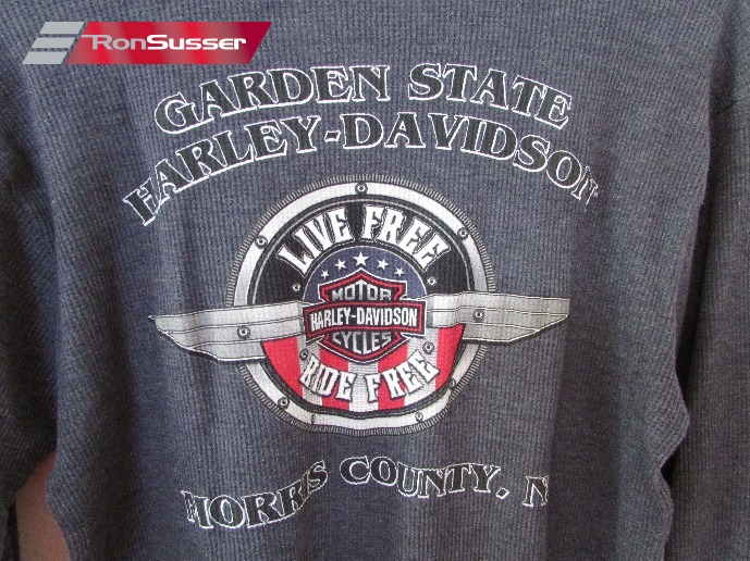 Harley Davidson Garden State Unisex Thermal Long Sleeve Shirt 2xl Euc Wears Like Large