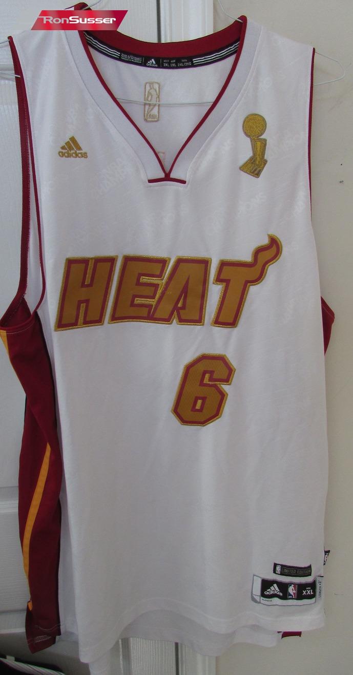 NBA Miami Heat Lebron James #6 Jersey XXL Length +2 Adidas Limited