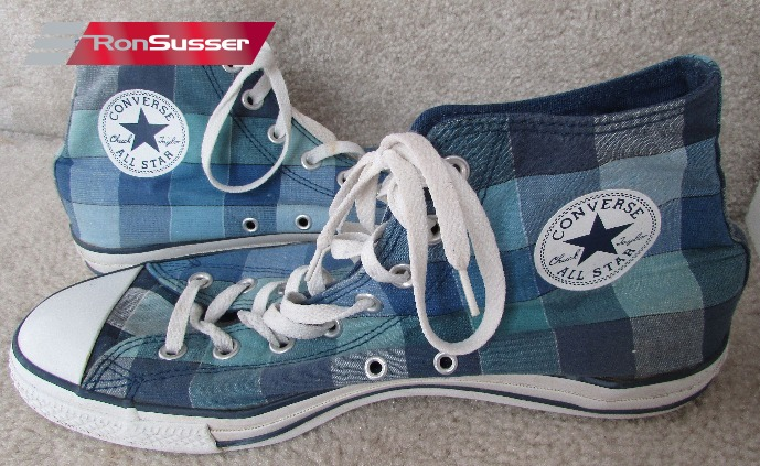 624194d4fb02 Converse Chuck Taylor All Star Plaid Hi Tops Sneakers 109855F Retro Shoes  Size 11