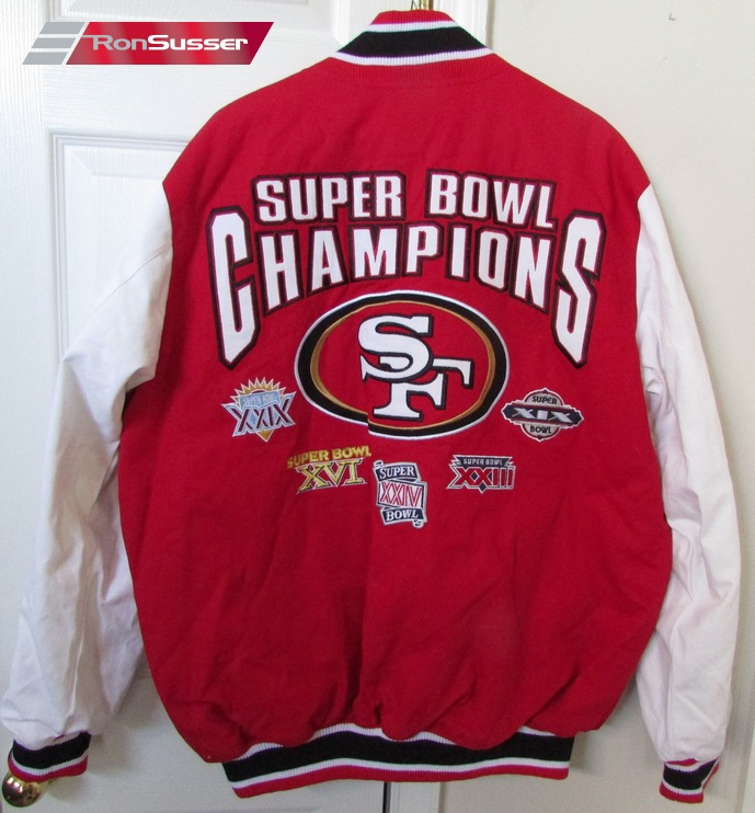 finest selection 0b316 11373 NFL San Francisco 49ers Super Bowl Champs Jacket Large EUC ...