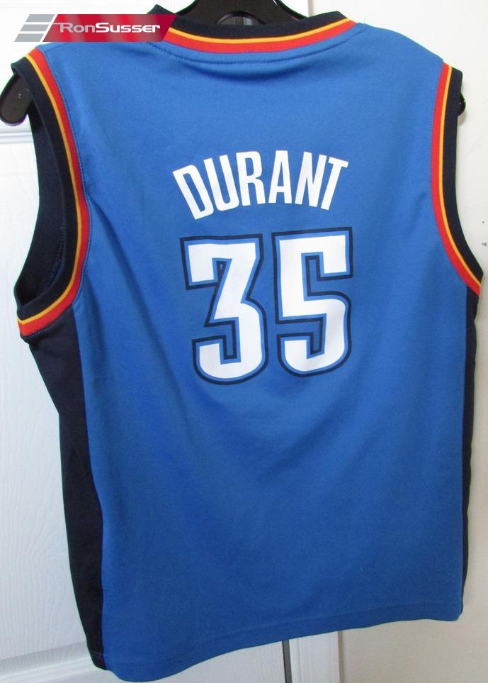1d215e9bb NBA Oklahoma City Thunder Kevin Durant  35 Jersey Youth Large Adidas EUC