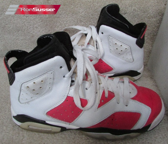 brand new 0c563 5b96a Nike Air Jordan Retro 6 VI GS White Coral Black Size 5.5Y Super Shape  384665-161