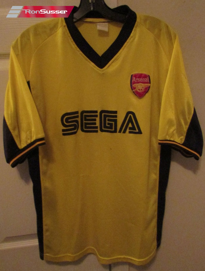 huge selection of 9612b cd7d3 Arsenal Football Soccer Shirt Bright Yellow Sega Sponsor ...