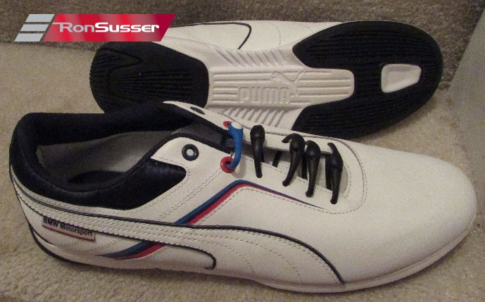 46220735df8 PUMA BMW MS Mens Driving Shoes Sneakers IGNITE WHITE 305098 01 Size 11.5 NEW