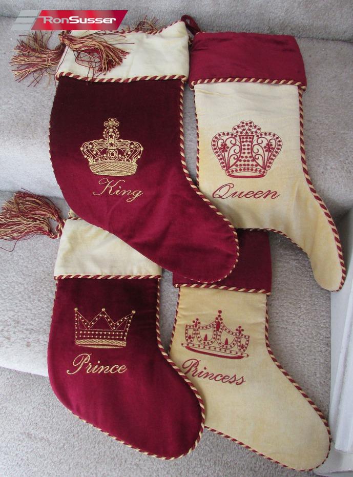 Set Of 4 Lillian Vernon Christmas Stockings King Queen