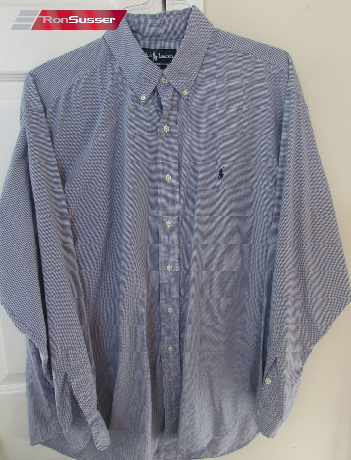 Sleeve Ralph Polo Long Button Shirt Men's Blue Lauren Blake Xl Front TFKJ31cul