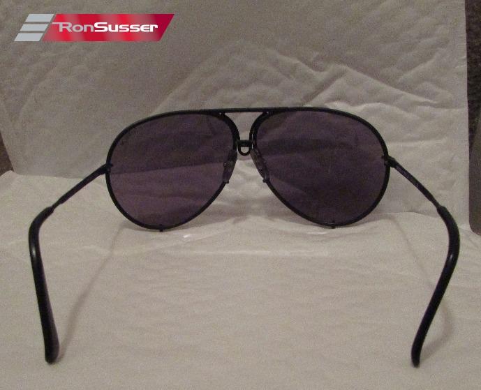 ea228aa48e15d Porsche Design PD Carrera Aviator Sunglasses 5621 Black Frame Gray ...