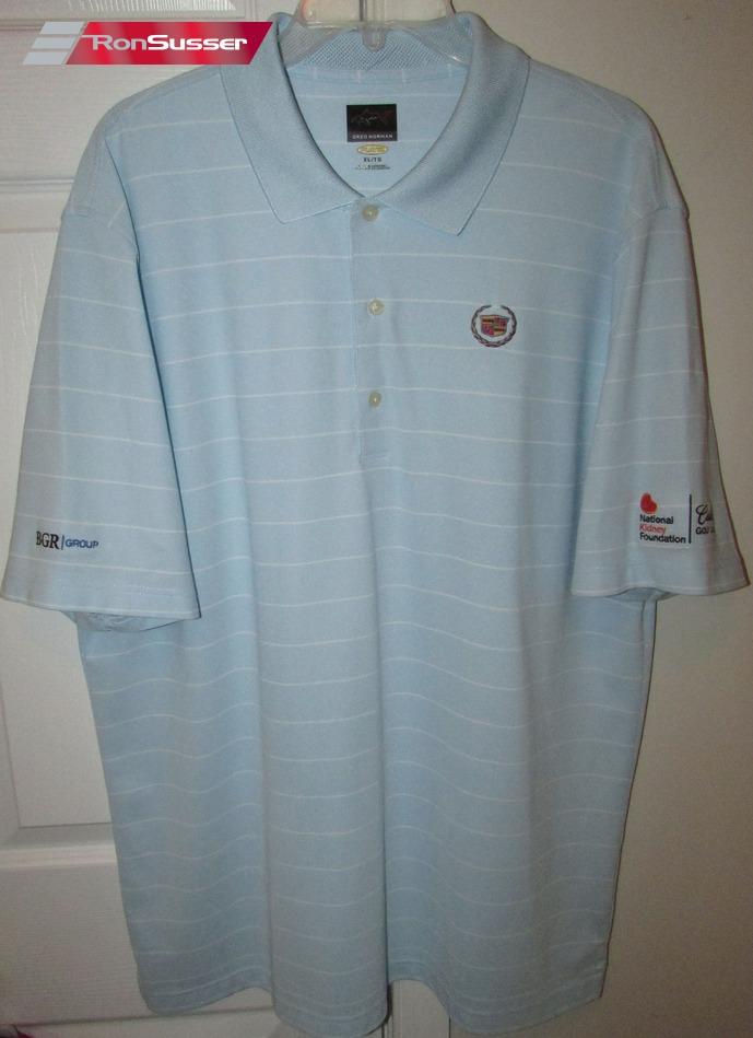 Cadillac Golf Classic Mens Polo Golf Shirt By Greg Norman Xl Light