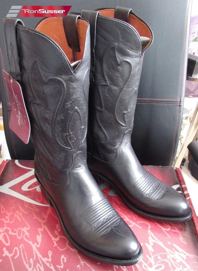 Lucchese M1006 R4 Mens Black Ranch Hand Calfskin Western