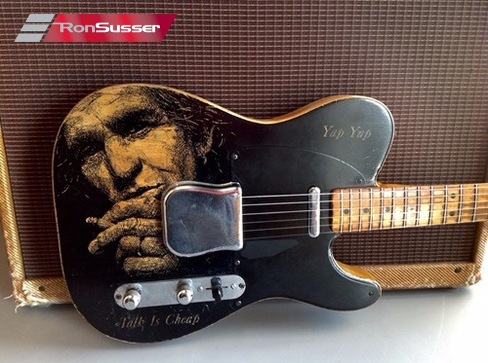 1952 Fender Telecaster With Keith Richards Likeness One Of A Kind Work Of Art Ronsusser Com