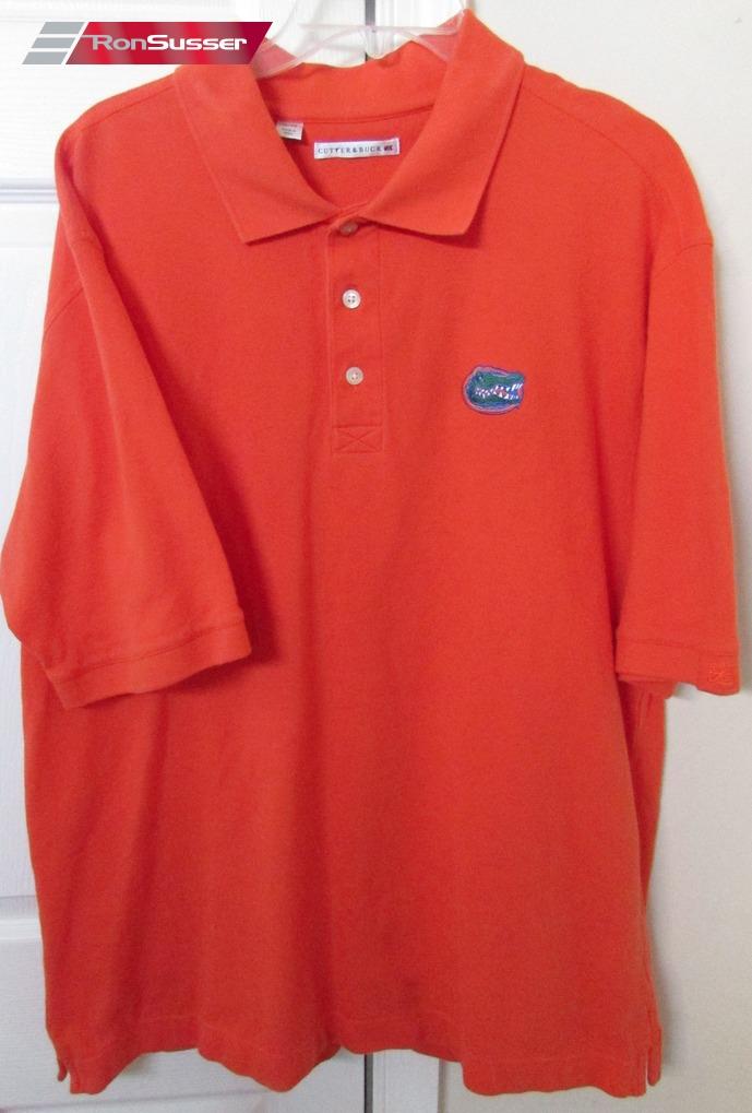 06a4090b513 NCAA University of Florida Gators Mens Orange Golf Polo Shirt XL EUC by  Cutter & Buck