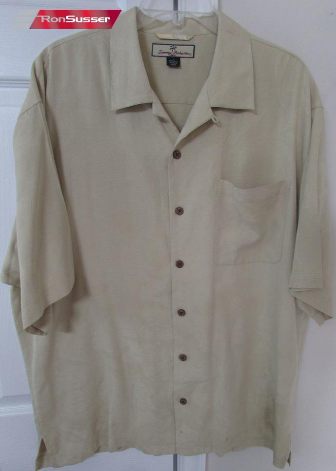Tommy bahama 100 silk mens short sleeve button front for Tommy bahama short sleeve silk camp shirt