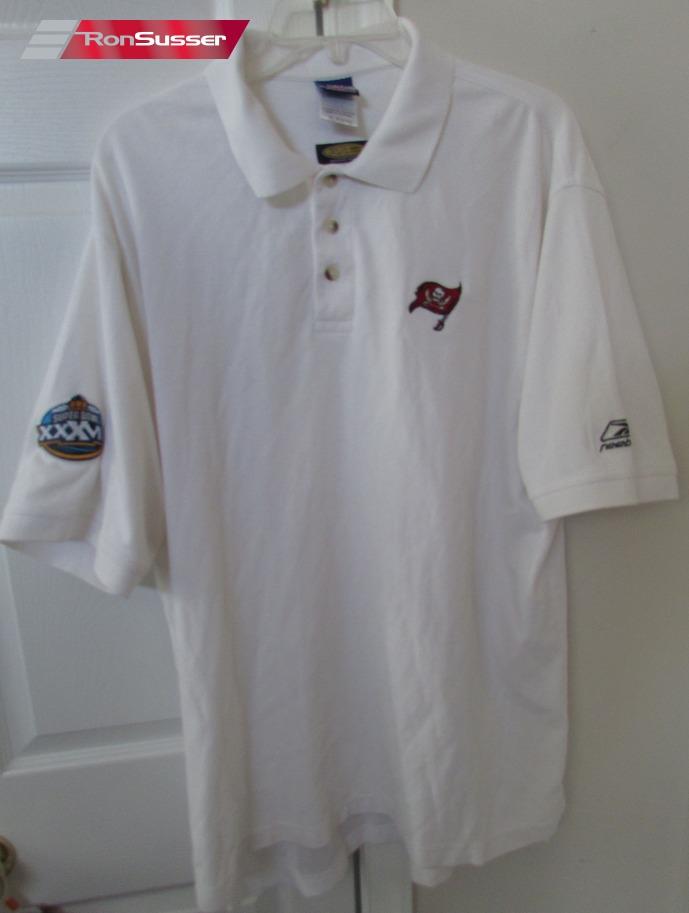 0ea651bd NFL Tampa Bay Buccaneers Golf Polo Shirt by Reebok XL White Super Bowl XXVI